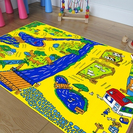 "AllStar Rugs Kids Area Rug. Zoo. Animals. Zebra. Monkey. Lions. Bright Colorfun Vibrant Colors (3' 3"" x 4' 10"")"