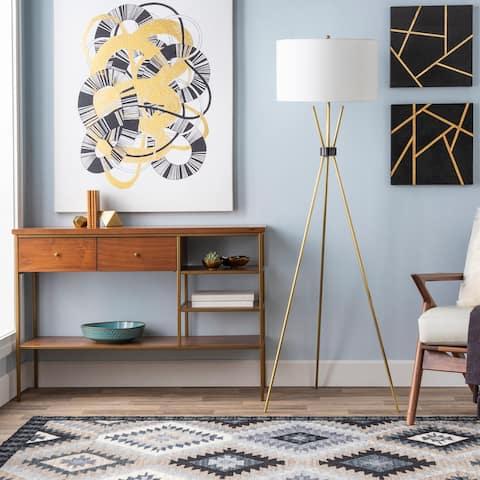Waterhouse 66.5 in. Brass Modern Floor Lamp