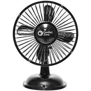 Comfort Zone(R) - Cz5usbbk - Oscillating Desk Fan Blk