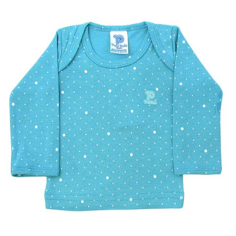 Baby Shirt Unisex Infant Polka Dot Long Sleeve Tee Pulla Bulla Sizes 0-18 Months