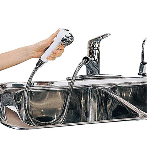 Renovators Supply Kitchen Sink Faucet Sprayer Widespread Single Hole