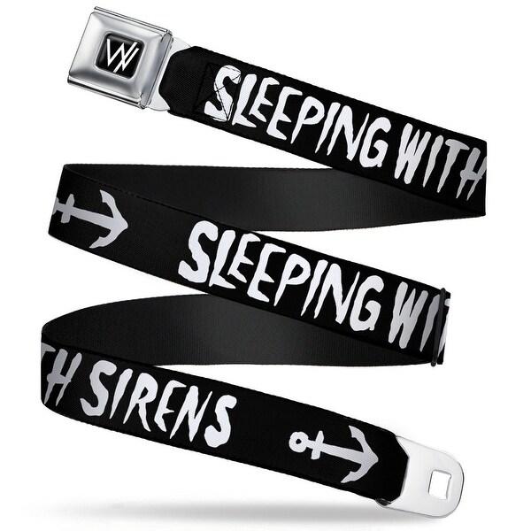 Sleeping With Sirens W Logo Full Color Black White Seatbelt Belt Seatbelt Belt