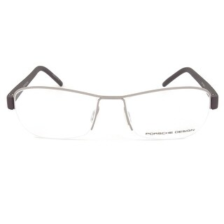 Porsche Design P8211 C Rectangular Gunmetal/Aubergine Eyeglass Frames