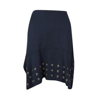 Michael Kors Women's Grommet Hem Skirt - New Navy