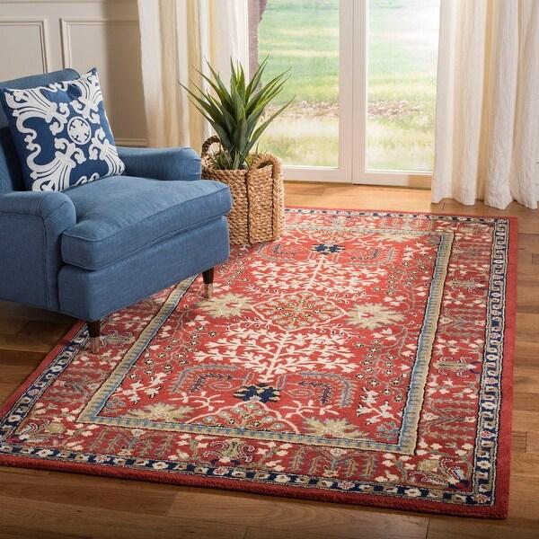Safavieh Handmade Antiquity Amalia Traditional Oriental Wool Rug. Opens flyout.