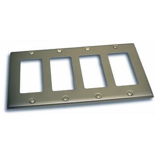 """Residential Essentials 10843 4.5"""" X 8.25"""" Quadruple Rocker Switch Plate Featuring a Rustic / Country Theme"""