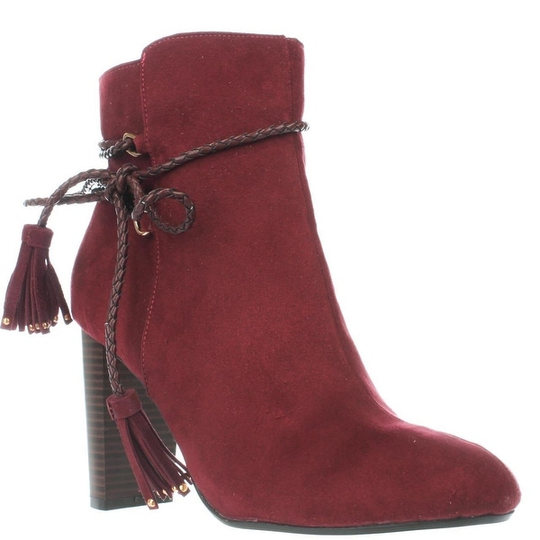 TS35 Palomaa Rope Lace Booties, Elderberry
