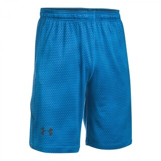 Under Armour NEW Blue Mens Size Small S Elastic-Waist Printed Shorts