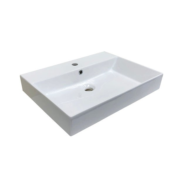 "WS Bath Collections Energy 60 Energy 23-5/8"" Ceramic Vessel/Drop in or"
