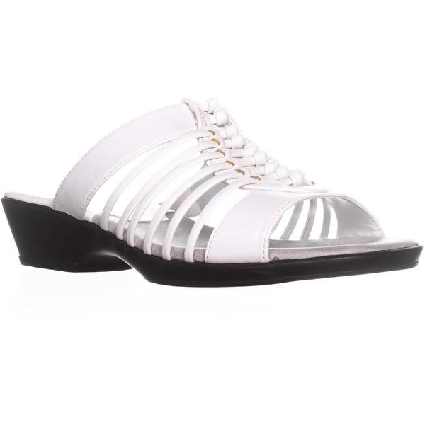 Easy Street Nola Strappy Slide Sandals, White - 9 us