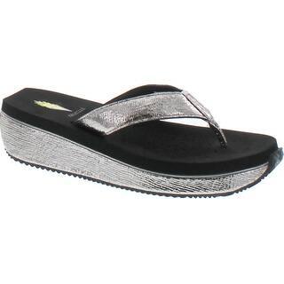 bcc9cc07132 Volatile Womens Palau Wedge Flip Flop Sandals - Natural. Quick View