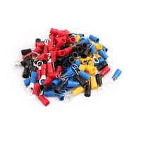 120 Pcs RV2-5 Ring Tongue Type Pre Insulated Terminals Assortment Set