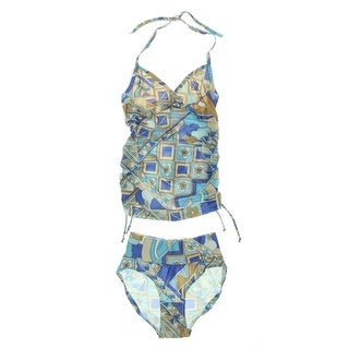 Japanese Weekend Womens Printed Maternity Tankini Swimsuit