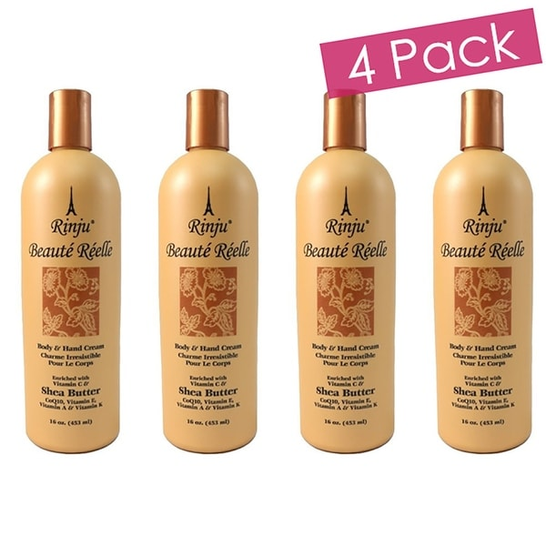 Rinju 4-Pack Beaute Reelle Body And Hand Lotion, 16 Ounces - Orange - N/A