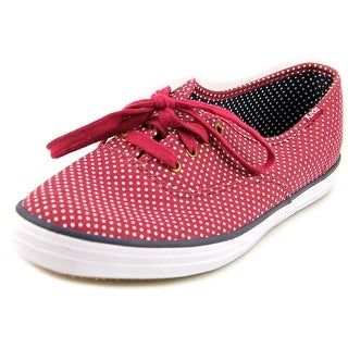 Keds Champion Women Round Toe Canvas Burgundy Sneakers