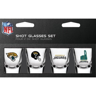 Jacksonville Jaguars Shot Glass 2oz 4 Pack