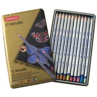 Derwent Metallic Pencil Tin 12/Pkg-