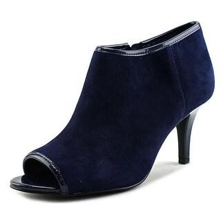 Bandolino Maiba Women Peep-Toe Suede Blue Heels