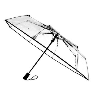 Totes Women's Ultra Clear Auto Open Compact Umbrella - One size