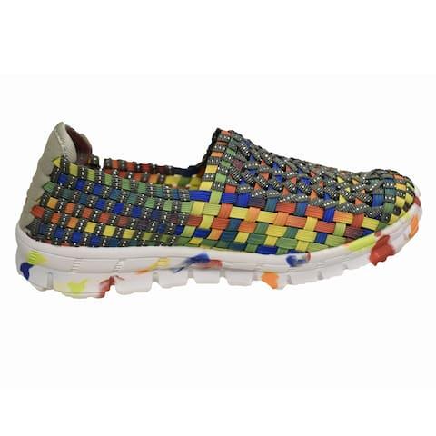 Women's Weaved Rainbow Rocsoc Slip On Shoe
