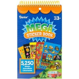 "Mega Sticker Book 9.5""X6""-Boy 5,250/Pkg"