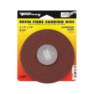 """Forney 71670 Resin Fibre Sanding Disc, 4-1/2"""" x 7/8"""", 80 Grit"""