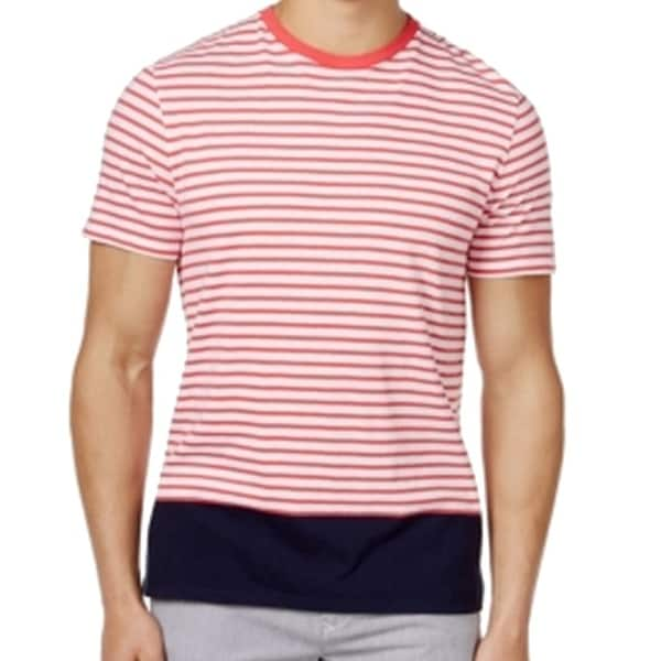 8ec8b380d Shop Tommy Hilfiger NEW Pink Mens Size Small S Striped Colorblock Tee T- Shirt - Free Shipping On Orders Over $45 - Overstock - 19388131