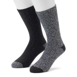 Climatesmart 2-Pair Men's Midweight Outdoor Casual Plushfill Socks - shoe size 8-12
