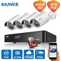 SANNCE 4CH 1080P PoE Network Video Cameras Surveillance System