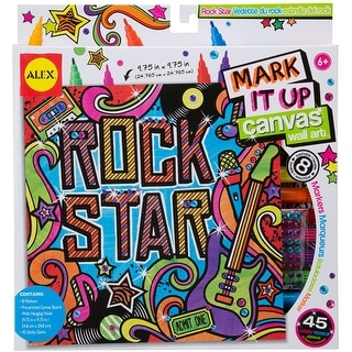 Mark It Up Canvas Wall Art-Rock Star