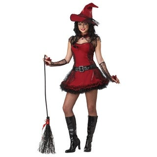 California Costumes Mischievous Witch Teen Costume - Red