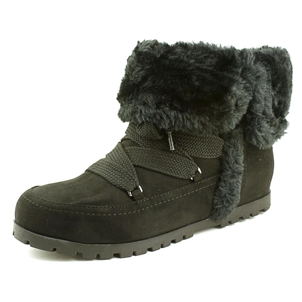 Indigo Rd. Boyston Women  Round Toe Canvas Black Winter Boot