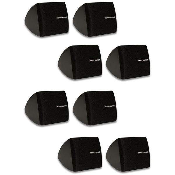 Theater Solutions TS30B Mountable Indoor Speakers Black 4 Pair Pack TS30B-4PR
