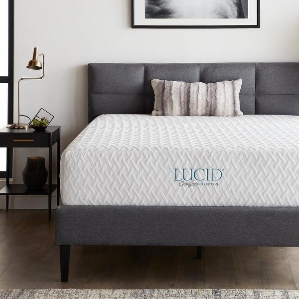 LUCID Comfort Collection 12-inch Medium Firm Gel Memory Foam Mattress. Opens flyout.