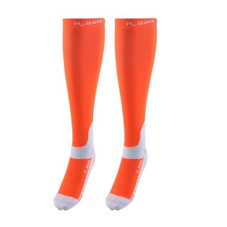 R-BAO Authorized Bicycle Cotton Blend Breathable Sports Cycling Socks Orange L