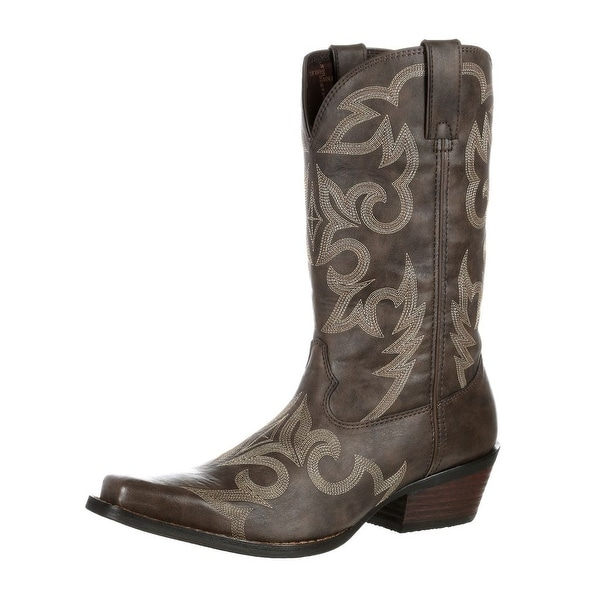 Durango Western Boots Mens Gambler Stitch Flex Square Brown