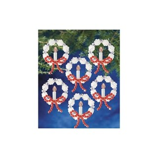 Beadery Craft Ornament Kit Frosted Candle Wreath