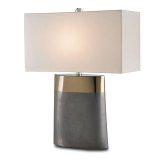 Currey and Company 6250 Moonrise 1 Light Table Lamp with Off White Shantung Shade - n/a