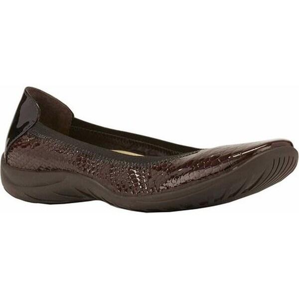 6daf9afe5b341 Shop Walking Cradles Women's Alias Slip On Dark Brown Belly Snake ...