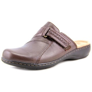 Clarks Leisa Ashley Women Round Toe Leather Brown Mules