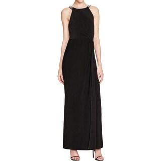Laundry by Shelli Segal Womens Formal Dress Matte Jersey Embellished