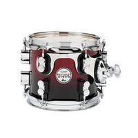 PDP  Cherry To Black Fade - Chrome Hardware Kit Drums, 7 x 8