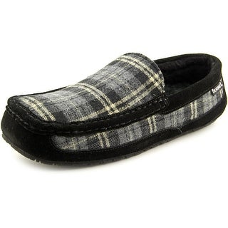 Bearpaw Peeta Men Moc Toe Canvas Black Slipper