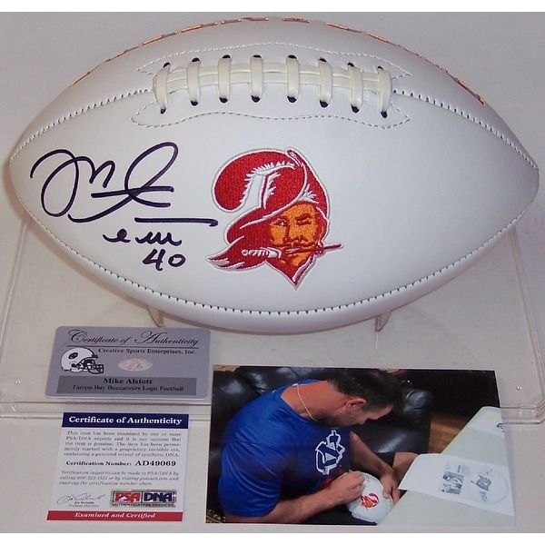 12f82e788 Shop Mike Alstott Autographed Hand Tampa Bay Bucs Throwback Logo Full Size  Football PSADNA - Free Shipping Today - Overstock - 21382776
