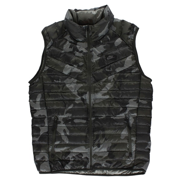 bfe62cfab Nike Mens Guild 550 Duck Down Camo Print Vest Army Green - army green/black