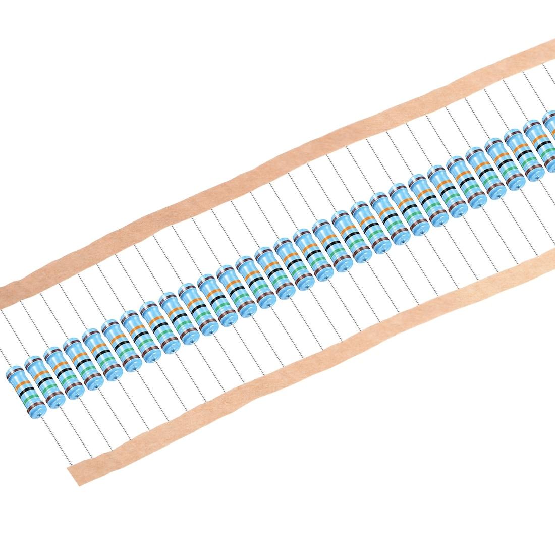 2W 2.7K Ohm 2 Watt 1/% Tolerance Metal Film Resistor 10 Pieces