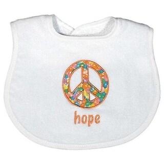 """Raindrops Unisex Baby """"Hope"""" Appliqued Bib, White - One size"""