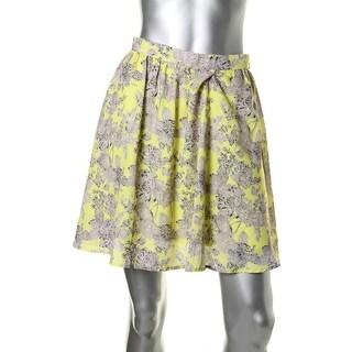 Lucy Paris Womens Chiffon Floral Print A-Line Skirt