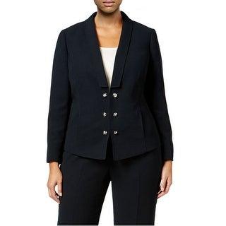 Tahari ASL Plus Size Crystal Button Blazer Jacket - 16W