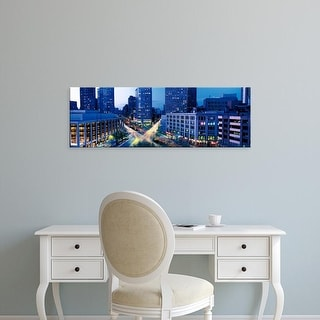 Easy Art Prints Panoramic Images's 'Buildings Lit Up At Night, NYC, New York City, New York State, USA' Canvas Art